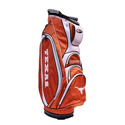 (Team Golf NCAA Texas Longhorns Victory Golf Cart Bag, 10-way Top with Integrated Dual Handle & External Putter Well, Cooler Pocket, Padded Strap, Umbrella Holder & Removable Rain Hood)