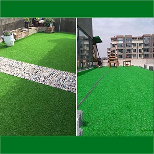 人工芝、20 Mmパイル耐摩耗性の偽芝ガーデンペットマット芝生の排水穴屋外装飾(1 Mx 1 M) YNFNGXU (Color : ArmyGreen, Size : 2x10m)