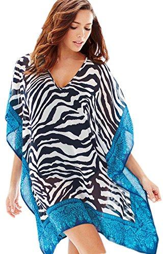 Stripes Beachwear Novelty Smock Cover Fancy Dress ups Paisley Zebra Frock Pashmina SqxtRIIFw