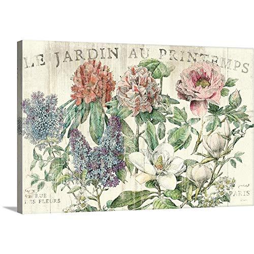 Le Jardin Printemps Canvas Wall Art Print, 48