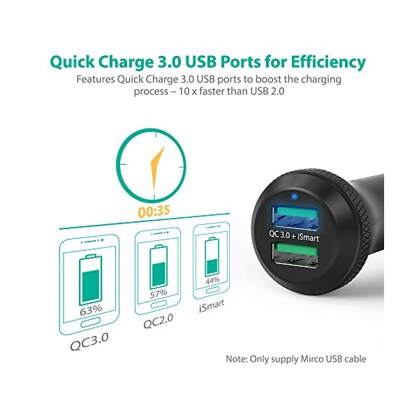 Car Charger Quick Charge 30 RAVPower 40W 3A Car Adapter With Dual QC USB Ports For Google Pixel Nexus HTC 10 LG V6 V20 Galaxy Note8 S8 S8 S7 S6 Edge Plus Note 5 4 And More