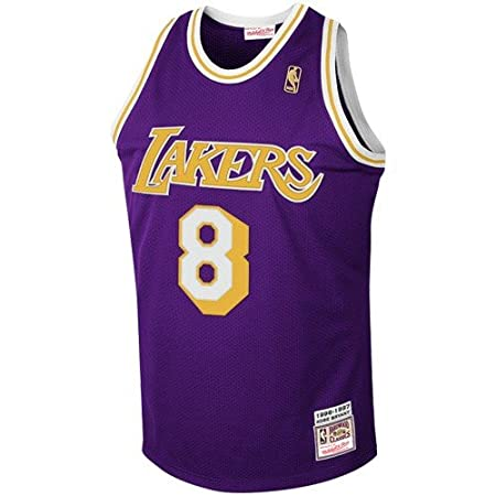 6342a38b8a7 Amazon.com   NBA Mitchell   Ness Los Angeles Lakers  8 Kobe Bryant Purple  1997 Authentic Hardwood Classics Jersey (40)   Sports   Outdoors