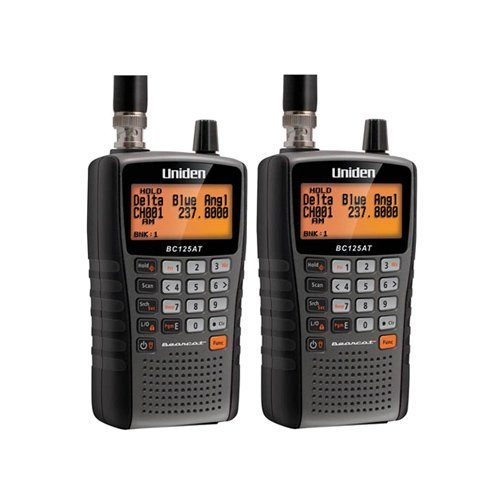 Uniden Bearcat BC125AT 500 Alpha Tagged Channel Bearcat Handheld Scanner (2-Pack) by Uniden
