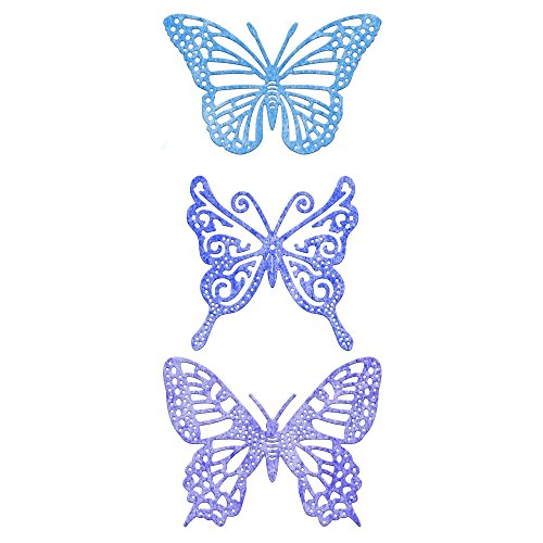 Cheery Lynn Designs DL113AB No.2 Exotic Butterflies with Angel Wings Die Cut, Small -