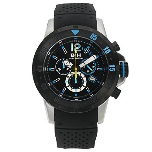 Brandt & Hoffman Men's 'Forsyth' Swiss Ronda 5040.D Textured Silicone Watch(Model: 62625358)