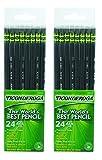 Dixon Ticonderoga Wood-Cased #2 Pencils, 2 Boxes of 24, Black (13926)
