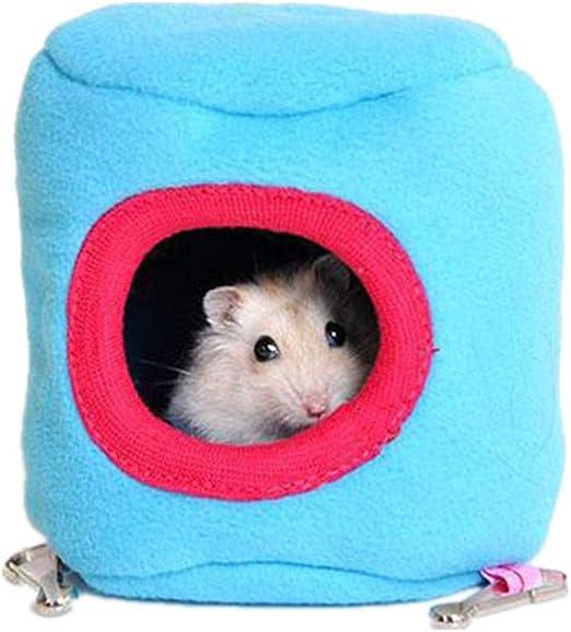 Dylandy Hamster House - Hamaca de Algodón Cálido para Colgar en la Cama de Invierno con Diseño de Hámster (Color al Azar): Amazon.es: Productos para mascotas