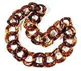 """""""Lovely Links Extra Chunky"""" Transparent Chunky Necklace, 27 Inches"""