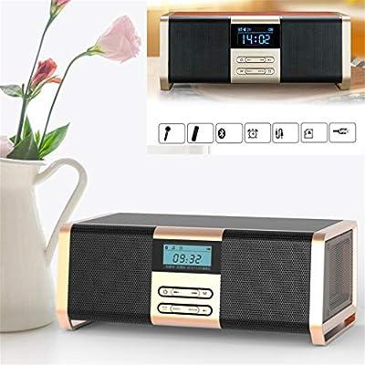 Altavoz de reloj despertador Bluetooth HIFI 30W de madera ...