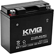 KMG YT12B-BS Sealed Maintenance Free Battery High Performance 12V SMF OEM Replacement Powersport Motorcycle AT