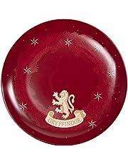 Harry Potter Hogwarts Houses Plates, Set of 4 - Gryffindor, Ravenclaw, Hufflepuff and Slytherin - Porcelain