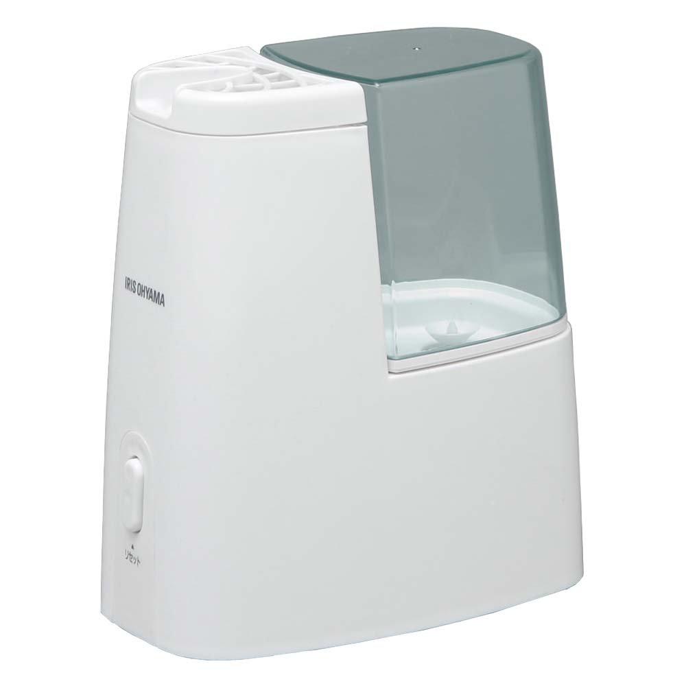 アイリスオーヤマ 加熱式加湿器 タンク容量1ℓ アロマトレー付き 4色展開