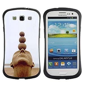Suave TPU GEL Carcasa Funda Silicona Blando Estuche Caso de protección (para) Samsung Galaxy S3 I9300 / CECELL Phone case / / Structure Art Head Balls Spiritual /