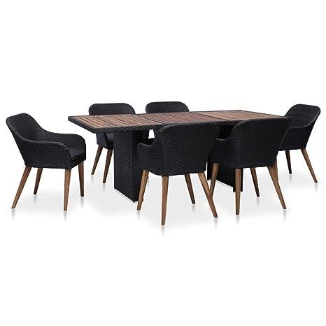 Festnight Mobilier de Jardin Exterieur 7 pcs Table et Chaise ...