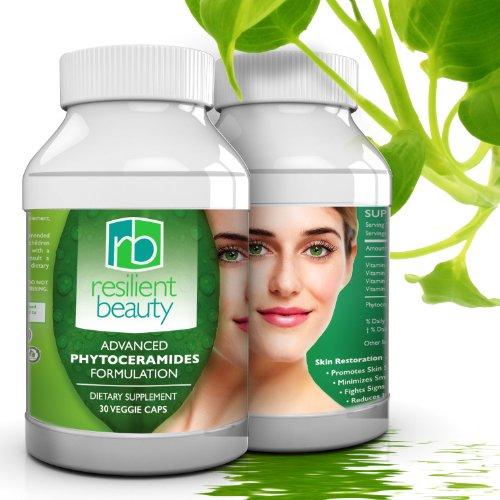 Les meilleures Capsules de Phytoceramides pour la restauration de la peau. 100 % naturel anti-âge supplément fournit hydratante avancée et l'hydratation de la peau, ongles, cheveux et rajeunissement Facial - 350 MG-vitamines de la peau - réduction des rid