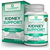 Premium Kidney Support Supplement by PurePremium | Kidney Cleanse Supplement | Potent Herbal Ingredients for Urinary Tract & Bladder Health | Cranberry Extract, Astragalus & Uva Ursi Leaf | 60 Caps