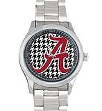 Dude Custom Alabama Crimson Tide Men's Stainless Steel Watch Sliver Metal
