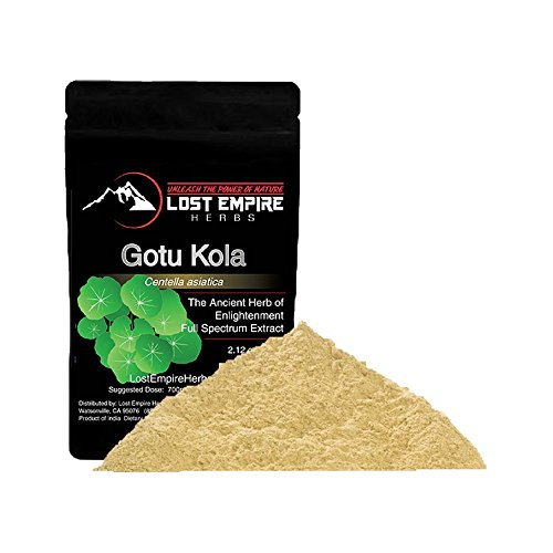 Organic Gotu Kola Extract Powder - Premium Nootropic Herb - Increases Brain Health, Calmness, and Contentment - Gluten Free, Paleo and Vegan Friendly - (60 g)