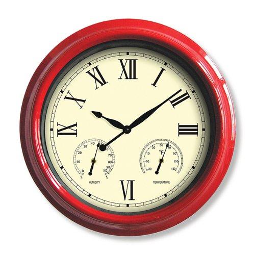 Poolmaster 52559 18 Clock/Thermometer/Hygrometer - Red