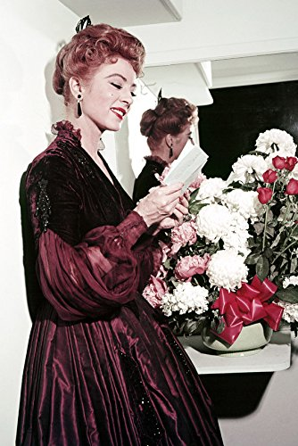 Amanda Blake Kitty Russell Gunsmoke 24x18 Poster in Costume Reading Fan -