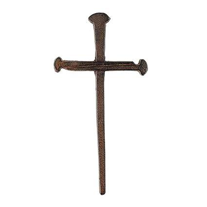 Amazon.com: Three Nails Antiqued Brown 9 Inch Metal Decorative ...