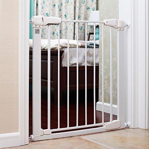 【送料無料/新品】 赤ちゃんの子供の安全ゲート赤ちゃん階段バリア自動閉口白いペットの犬のフェンスポールフェンス隔離ドア B07CWKK63Q B07CWKK63Q, 猫屋敷:3a635121 --- a0267596.xsph.ru
