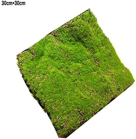 人工の緑の芝生、緑の合成苔30cm×30 cm 10個室内装飾 (Size : 2pack)