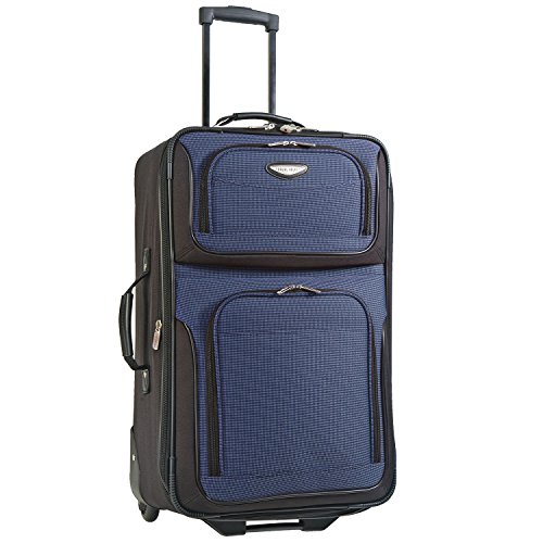 Upright Navy Large Rolling Luggage - Travelers Choice Travel Select Amsterdam 25-Inch Expandable Rolling Upright, Navy