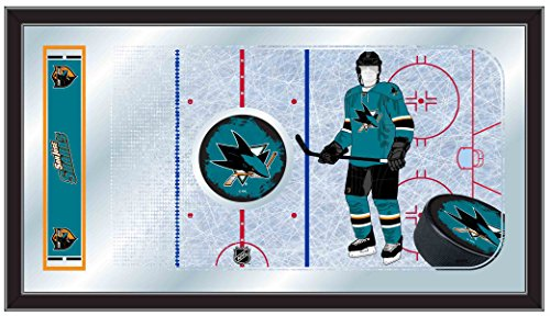 Holland Bar Stool Company NHL San Jose Sharks 15x26-Inch Hockey Rink Mirror