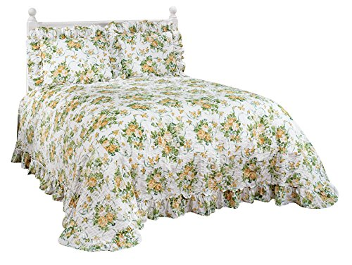 (Ribbons and Roses Plisse Bedding by Miles Kimball)