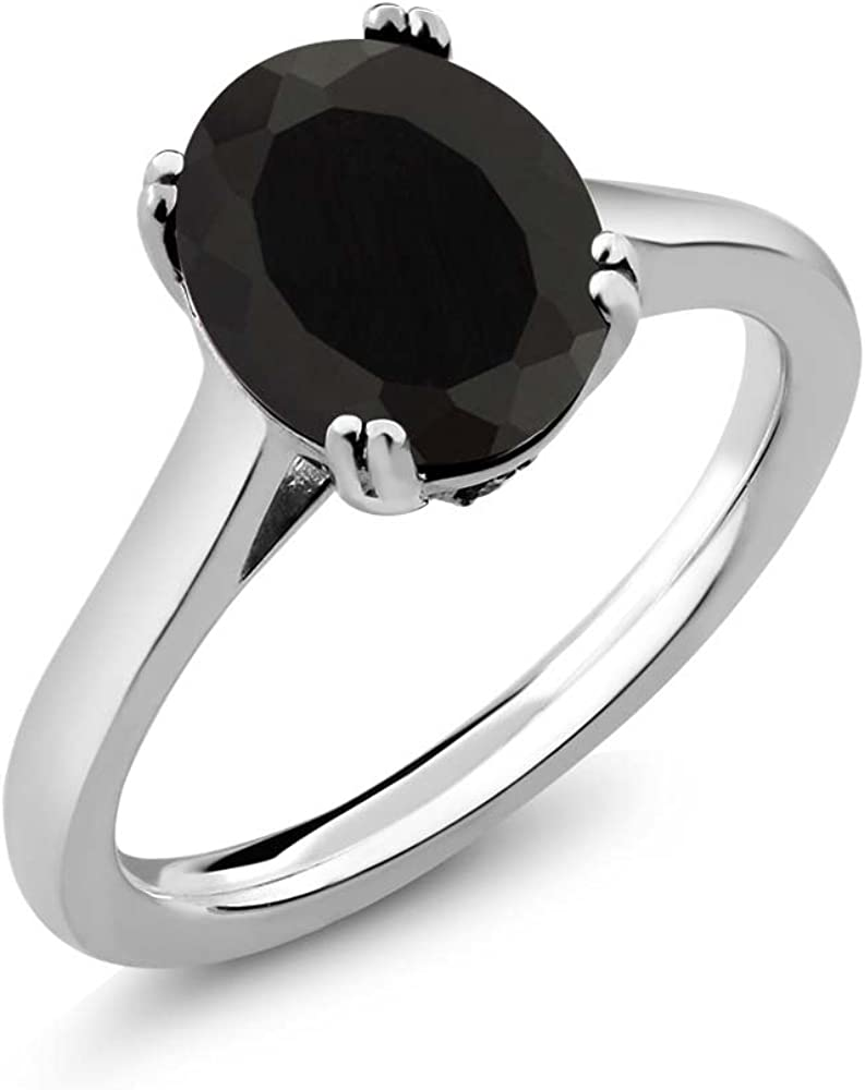 It Fresno Mall is very popular Gem Stone King 925 Sterling Silver Onyx Diamond White and Black