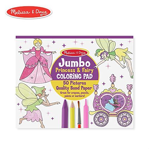 Melissa & Doug Princess & Fairy Jumbo Coloring -
