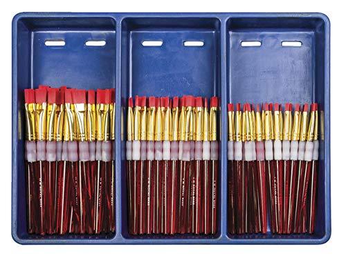 Royal Brush Big Kids Choice Brush Bonus Flat Classroom Pack, Assorted, Set of 72 Brushes and 12 Aprons - 406839 by ROYAL BRUSH