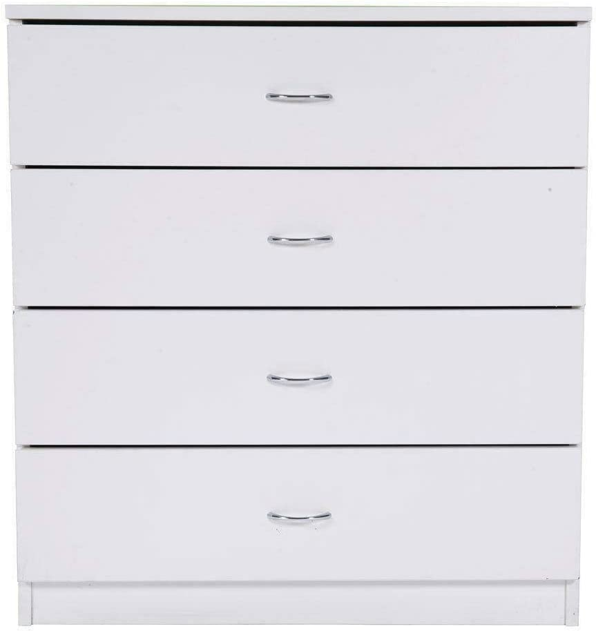 4 Chest of Drawers Bedroom Dressers Storage Organizer Furniture Black White New (White)