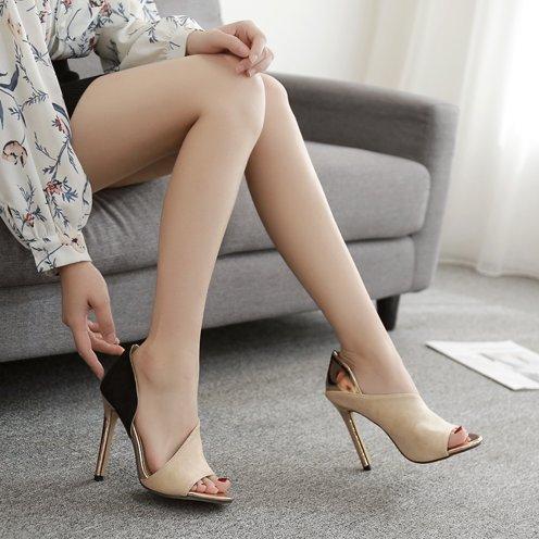 KPHY Wildleder Sexy Schön Zehen Zusammenfügen Zusammenfügen Zusammenfügen Mode Wild 11Cm Hohe Schuhe Sandalen. 725e78