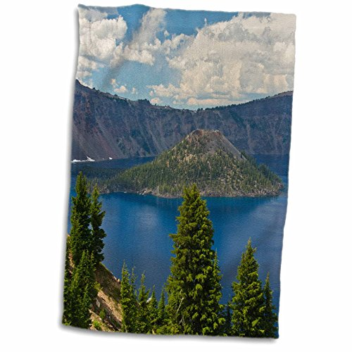 3D Rose Wizard Island-Crater Lake National Park-Oregon-USA Hand Towel 15