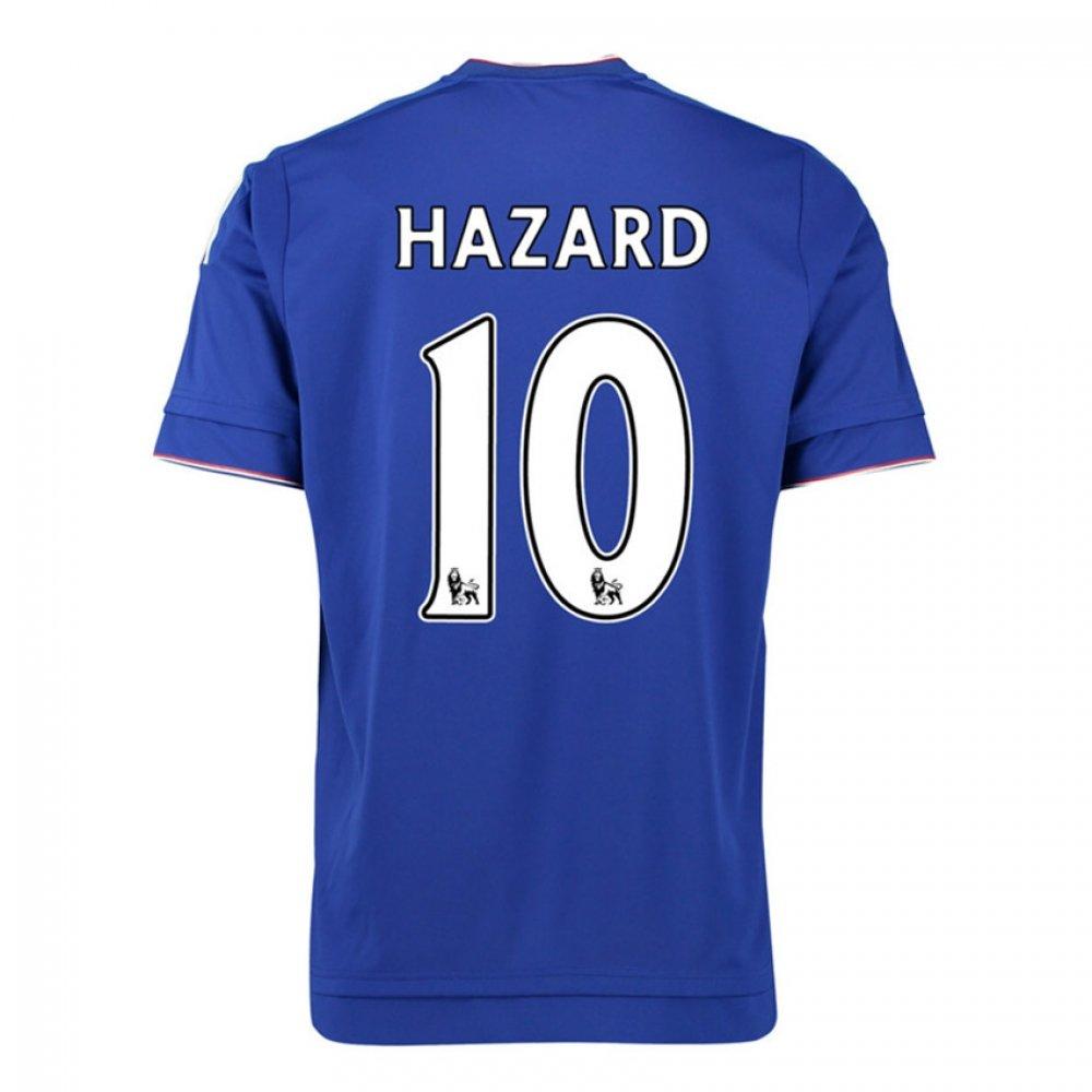 2015-16 Chelsea Home Football Soccer T-Shirt Trikot (Eden Hazard 10) - Kids