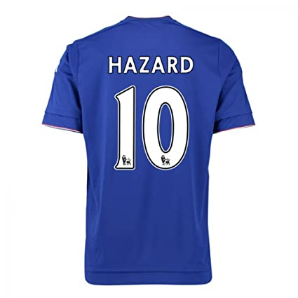 2015-16 Chelsea Home Football Soccer T-Shirt Jersey (Eden Hazard 10)