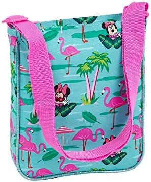 "SAFTA Messenger Bag Minnie Mouse""Palms"" Official with External Pocket 210 x 45 x 250 mm"