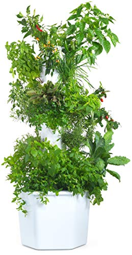 Vertical Hydroponic Tower - Aerospring Herb & Vegetable Garden - 27 Plant Grow System