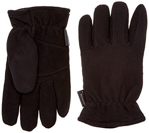 Heatlok Deerskin Thermal Gloves-Black-Size 11 XL