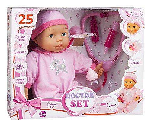 Bayer Design 93877 - Funktionspuppe, Doktor-Set, 38 cm