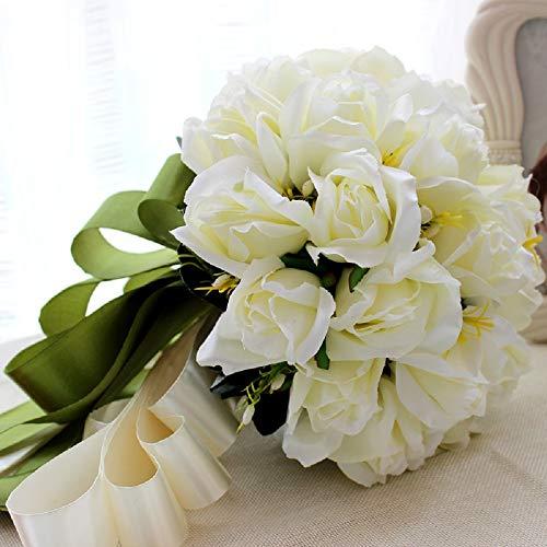 [Neustadt] 웨딩 부케 신부 꽃에 청초하고 귀여운 흰 장미의 조화 부케