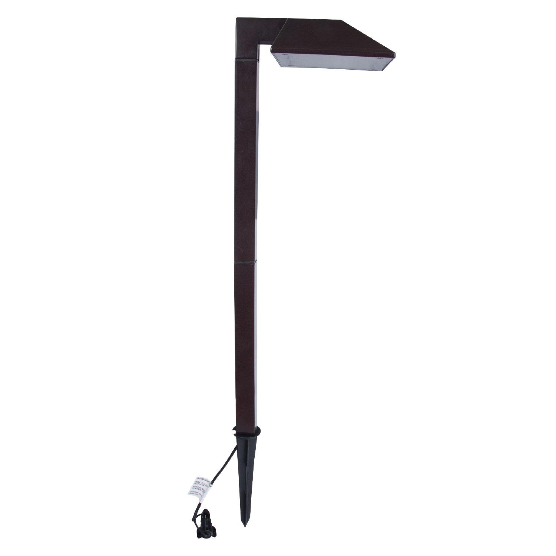GOODSMANN Equinox LED Low Voltage Landscape Lighting 0.6 Watt Pathway Light, 22 Lumen Warm White, Charcoal Brown 9920-2101-01