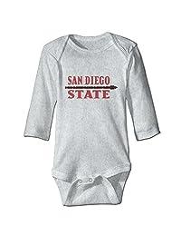 SUEPER Baby Boys&Girls San Diego State University Bodysuit Tee Ash