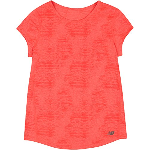 New Balance Big Girls' Short Sleeve Performance Tees, Sunrise Heather, - Girls Sun Uk