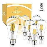 Bombillas LED Edison regulables: 6 W, 2700 K, luz blanca suave, equivalente a 60 W, base E26, juego de 6 bombillas clásico