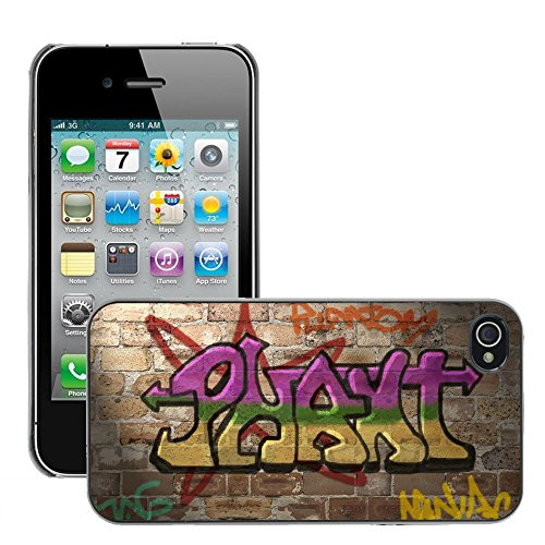 Premio Sottile Slim Cassa Custodia Case Cover Shell // V00002334 Graffiti wall // Apple iPhone 4 4S 4G