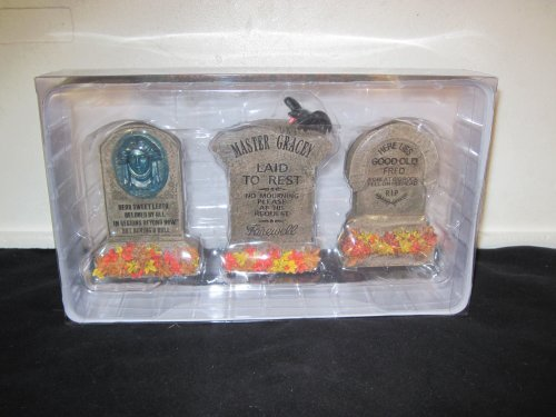 Disney Haunted Mansion 3 Pack Tombstone (Haunted Mansion Tombstones)