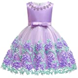 Summer Dresses 12-18 Month Easter Purple Tutu Dress for Wedding Birthday Party Toddler Kids Sleeveless Flower Dress baptism dresses for baby girls 12 Month Infant Cute Princess Dress (Lavender 12M)
